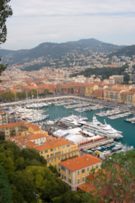 Nice in France is a popular charter destination
