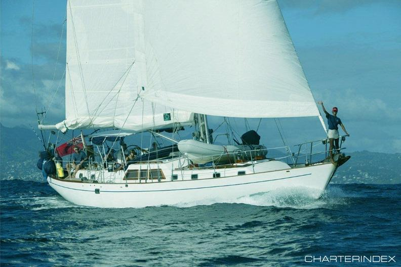 S/Y Dove in the Caribbean