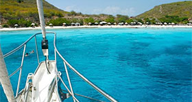 White beaches and secluded bays in the southern Caribbean