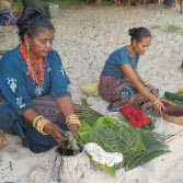 Ladies of Flores make their own dyes