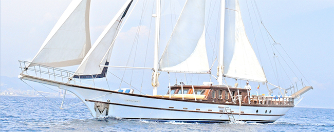 Schooner ADARA in the Balearics