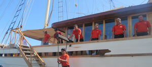 guest welcome for a crewed yacht charter