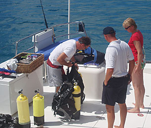 diving during your crewed yacht charter