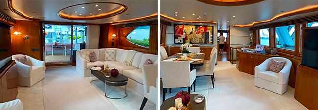 Triple Net 92ft motor yacht for charter in bahamas or chesapeake bay - Sanderson Yacht Charters